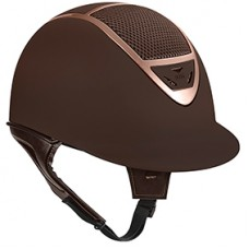 IRH IR4G Riding Helmet suede brown with rose gold trim