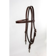 Tory Peak Performance brow band western headstall snap end