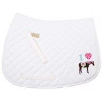 Equine Couture I Heart Pony Saddle Pad