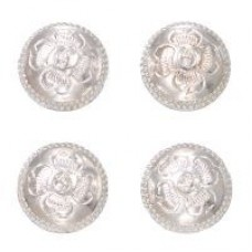 Magnetic number pin set silver concho style