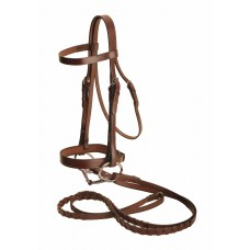 Tory flat snaffle bridle