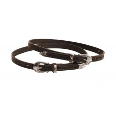Tory Leather silver-buckle spur straps