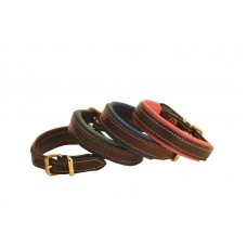 Tory engraved padded leather bracelet