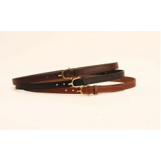 Tory brass spur bridle-leather belt 3/4""