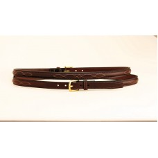 Tory raised and stitched bridle-leather belt