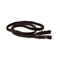 Tory braided western buckle-end roping reins