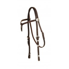 Tory Touch of Silver Brow Knot Headstall