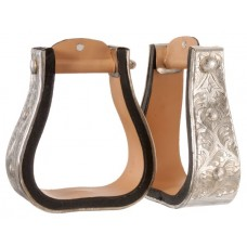 Royal King silver western stirrup