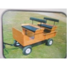 Mini/pony 2-seater wagon with removable back seat