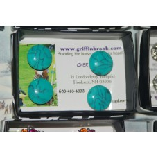 Magnetic number pin set Turquoise 5/8""