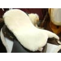Merino sheepskin flat saddle seat cover