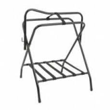 Folding floor saddle rack