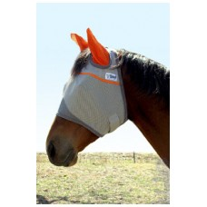 Cashel Fly Mask with Ears Orange Rescue Fund