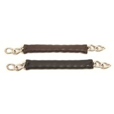 Walsh leather-wrapped curb chain