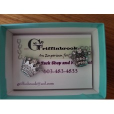 Magnetic number pin pair silver crown