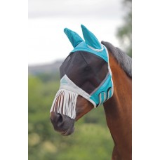 Shires Air Motion fly mask with nose fringe