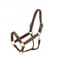 Tory padded leather halter two-color 1""