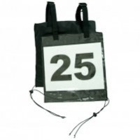 Competition pinny number holder