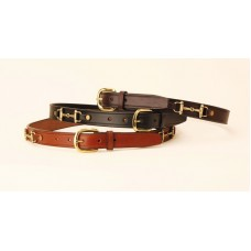 Tory brass snaffle bit bridle-leather belt
