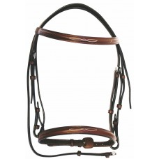 HDR stitched raised hunt bridle