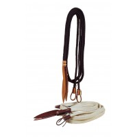 Tory flat cotton braided reins with popper
