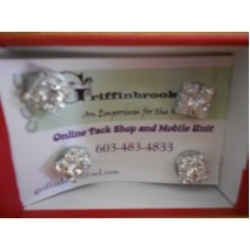 Magnetic number pin set of 4 crystal squares