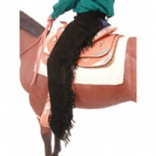 Western fringed chaps suede