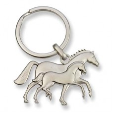Mare and foal key chain